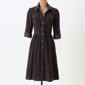 ANTHROPOLOGIE fei Women's Gray Corduroy Dress